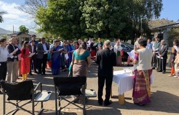 Independence day celebration at Mbabane (Eswatini).