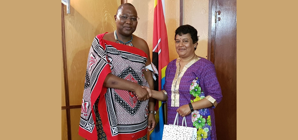 High Commissioner called on the Rt Hon'ble Ambrose M. Dlamini, Prime Minister of the Kingdom of  Eswatini on September 20, 2019
