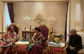 Presentation of Credentials to His Majesty the King of Eswatini today by the High Commissioner Radha Venkataraman