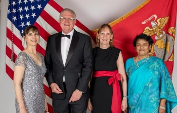 High Commissioner at the 244th Anniversary of the US Marines celebrated at Mbabane