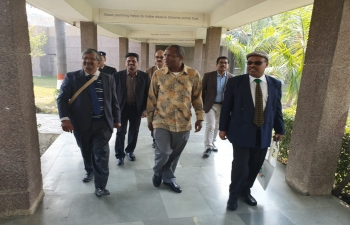 Prince Hlangusemphi Dlamini, representative of His Majesty King Mswati III visits BIRD, Lucknow and projects of NABARD