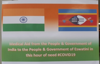 GoI Donation of Essential Medicines to the Kingdom of Eswatini to combat COVID 19