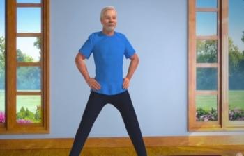 Yoga with PM Modi English