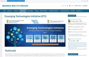 Ministry of External Affairs' Emerging Technologies Initiative (ETI)