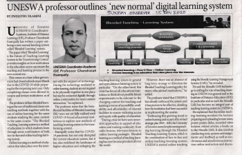 Indian Professor at UNESWA outlines 'new normal' digital learning system