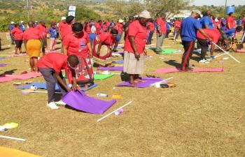 Curtain Raiser Camp for #IDY2021 at Timphisini Inkhundla with Eswatini Sports Council - 12/06/2021